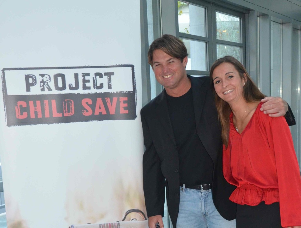 Gaelle Wizenberg and Craig Cignarelli at the Green Steps Media Fashion Show last week. The two are helping to raise awareness for Project Child Save.